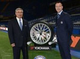 Chelsea jump above Arsenal and Liverpool with £40m-a-year shirt sponsor Yokohama Rubber